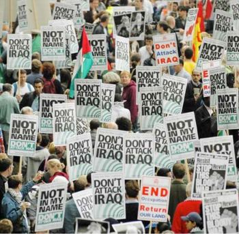 Since 2002 there have been protests all over the world against the Iraq War